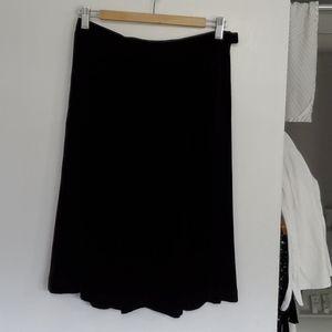 Eddie Bauer Black Velvety Skirt